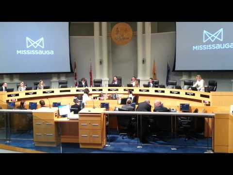 Opening proceedings of General Committee meeting at Mississauga City Hall